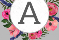 Floral Alphabet Banner Letters Free Printable – Paper Trail within Letter Templates For Banners