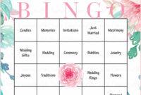 Floral Bridal Bingo Cards – Printable Download – Prefilled with Blank Bridal Shower Bingo Template