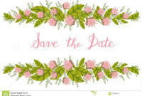Flower Card, Invitation, Banner Template With Save The Date pertaining to Save The Date Banner Template