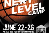 Flyer Design For Kids Basketball Camp. Designed intended for Basketball Camp Brochure Template