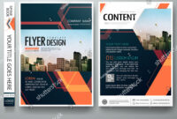 Flyers Design Template Vector. Abstract Blue Cover Book with regard to Engineering Brochure Templates