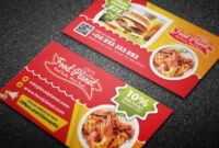 Food And Restaurant Business Card #ad , #ad, #free#fonts for Restaurant Business Cards Templates Free