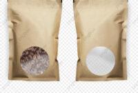 Food Packaging Design, Blank Product Packaging, Design in Blank Packaging Templates