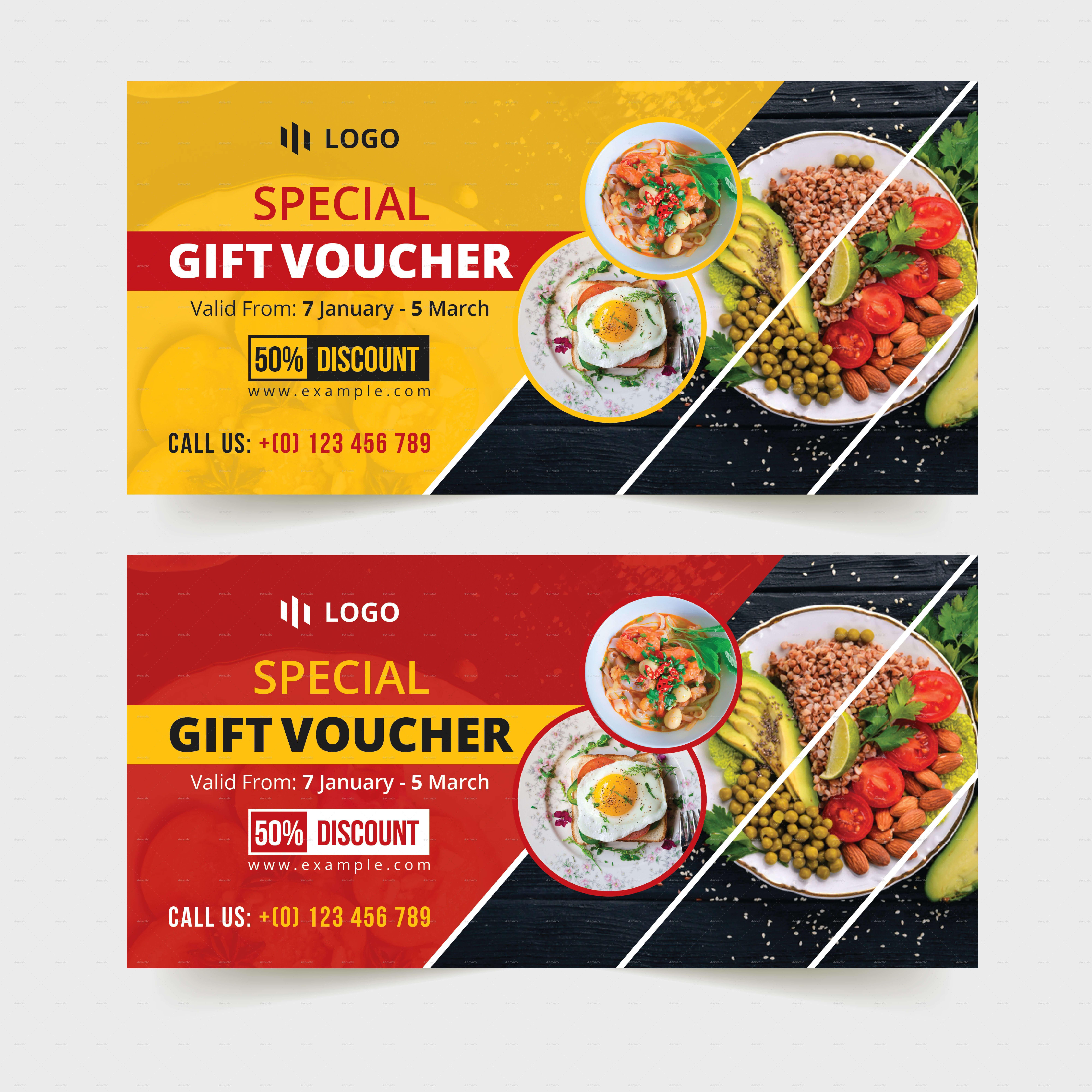 Food-Restaurant Gift Voucher Template #restaurant, #food within Restaurant Gift Certificate Template