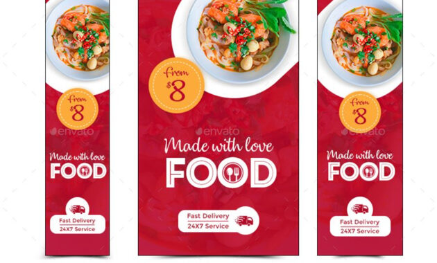 Food Web Banner Set #web, #food, #set, #banner | Food Banner for Food Banner Template