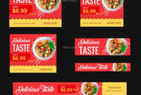 Food Web Banner Set #web, #food, #set, #banner | Food Banner in Food Banner Template