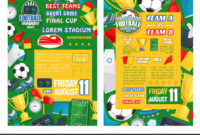 Football Or Soccer Sport Tournament Match Banner — Stock in Soccer Referee Game Card Template