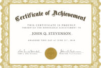 Formal Award Certificate Template Pertaining To Hayes Certificate Templates