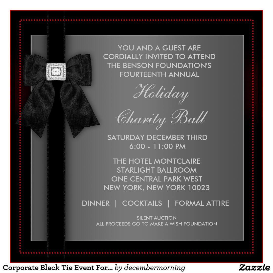 Formal Event Invitation Card Sample - Google Search | Event Intended For Event Invitation Card Template