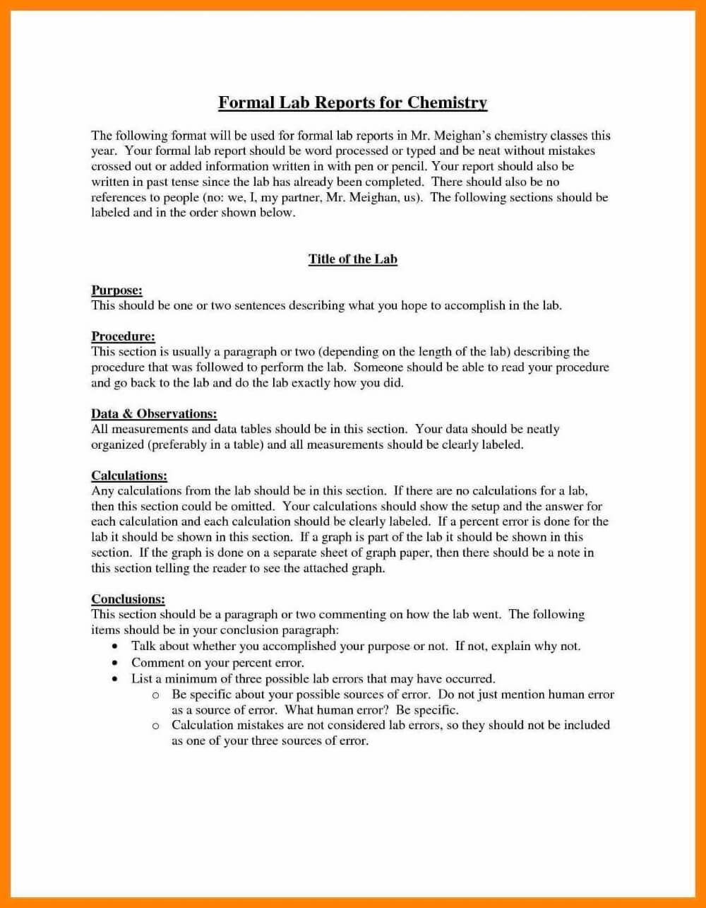 Formal Lab Report Template Ideas Frightening Example Throughout Expert Witness Report Template