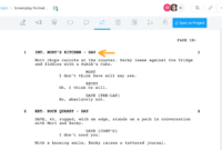 Formatting A Screenplay: How To Put Your Story Into within Shooting Script Template Word