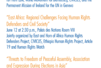 Former Un Special Rapporteur On The Rights To Freedom Of Throughout Rapporteur Report Template