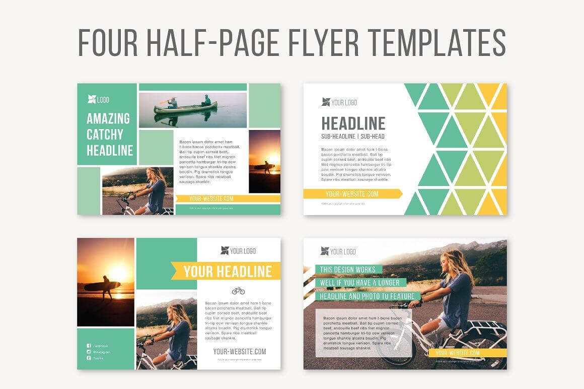 Four Half Page Flyer Templatesjoanna Haecker On Regarding Half Page Brochure Template