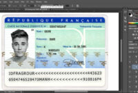 France Id Card Editable Psd Template (Photoshop Template Pertaining To French Id Card Template