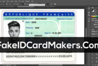 France Id Card Template Psd [Fake Driver License] Throughout French Id Card Template