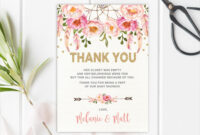 Free 14+ Baby Shower Thank-You Cards In Psd | Ai | Eps within Thank You Card Template For Baby Shower