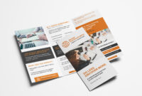 Free 3 Fold Brochure Template For Photoshop & Illustrator In One Sided Brochure Template