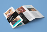 Free Accordion 4-Fold Brochure Leaflet Mockup Psd Templates intended for 2 Fold Brochure Template Psd