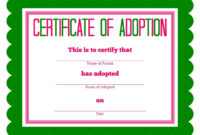Free Adoption Certificate Template – Google Search with regard to Adoption Certificate Template