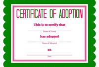 Free Adoption Certificate Template – Google Search with regard to Adoption Certificate Template