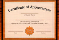 Free Appreciation Certificate Templates Supplier Contract Regarding In Appreciation Certificate Templates