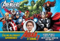 Free Avengers Birthday Invitation | Dioskouri Designs for Avengers Birthday Card Template
