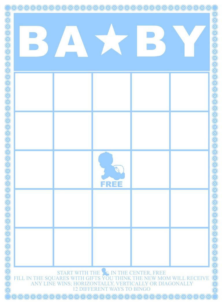 Free Baby Shower Bingo Cards Your Guests Will Love | Baby Inside Blank Bingo Card Template Microsoft Word