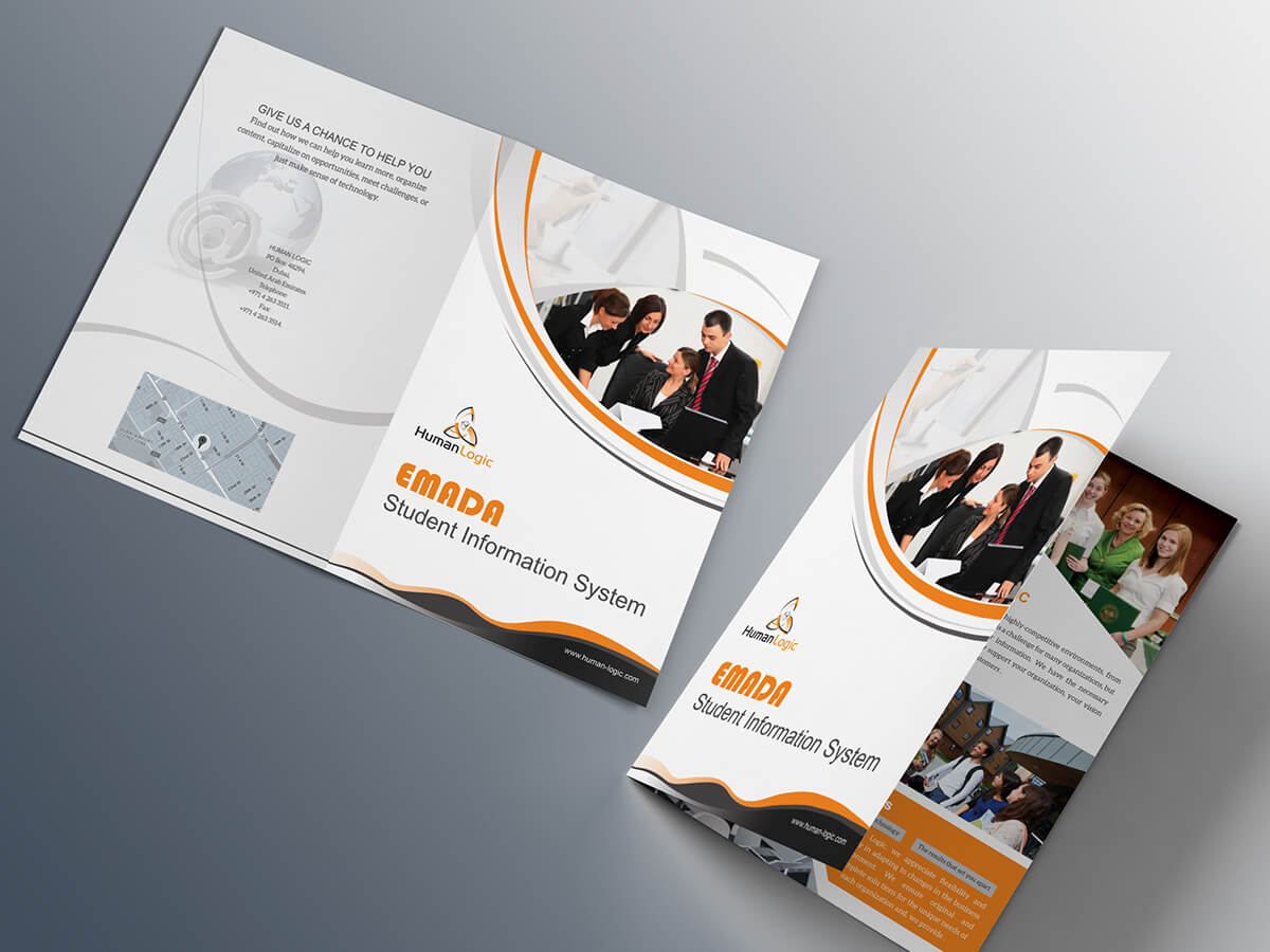 Free Bi Fold Brochure Psd On Behance With 2 Fold Brochure Template Psd