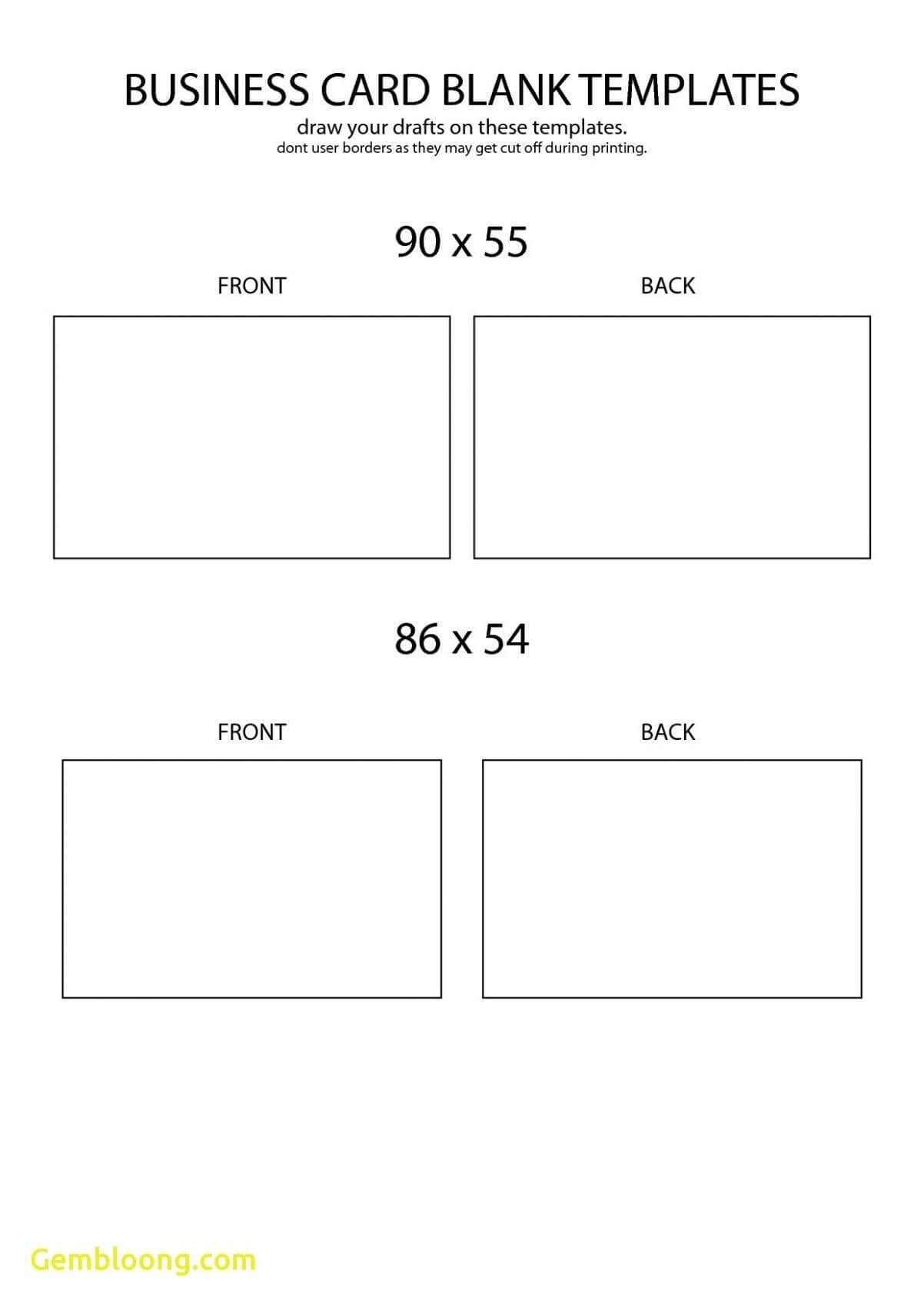 Free Blank Business Card Template Front And Back Design Intended For Word 2013 Business Card Template