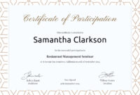 Free Blank Certificate Of Participation | Certificate with regard to Certificate Of Participation Template Doc