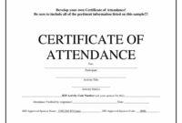 Free Blank Certificate Templates | Attendance Certificate with Perfect Attendance Certificate Free Template