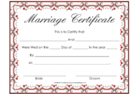 Free Blank Marriage Certificates | Printable Marriage pertaining to Blank Marriage Certificate Template