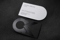 Free Bold And Creative Black And White Business Card regarding Black And White Business Cards Templates Free