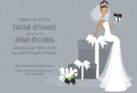 Free Bridal Shower Invitation Templates | Free Wedding intended for Blank Bridal Shower Invitations Templates