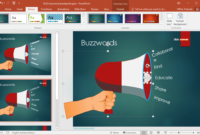 Free Buzzword Powerpoint Template intended for How To Change Powerpoint Template