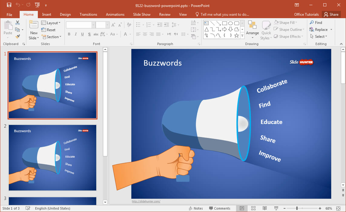 Free Buzzword Powerpoint Template Throughout Powerpoint Replace Template
