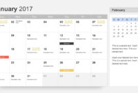 Free Calendar 2017 Template For Powerpoint intended for What Is Template In Powerpoint