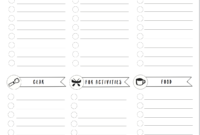 Free Camping Packing List Template! | Packing List Template with Blank Packing List Template