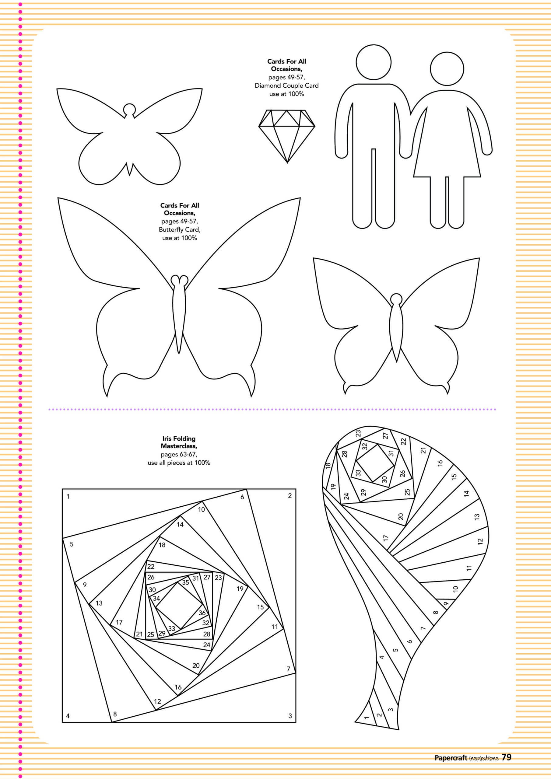 Free Card Making Templates From Papercraft Inspirations 123 Pertaining To Card Folding Templates Free