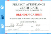 Free Catalog Certificates Free Perfect Attendance in Perfect Attendance Certificate Template