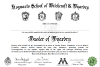 Free Certificate Of Hogwarts To Download And Use | Harry pertaining to Harry Potter Certificate Template