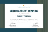 Free Certificate Template Training Filename Elsik Blue regarding Fall Protection Certification Template