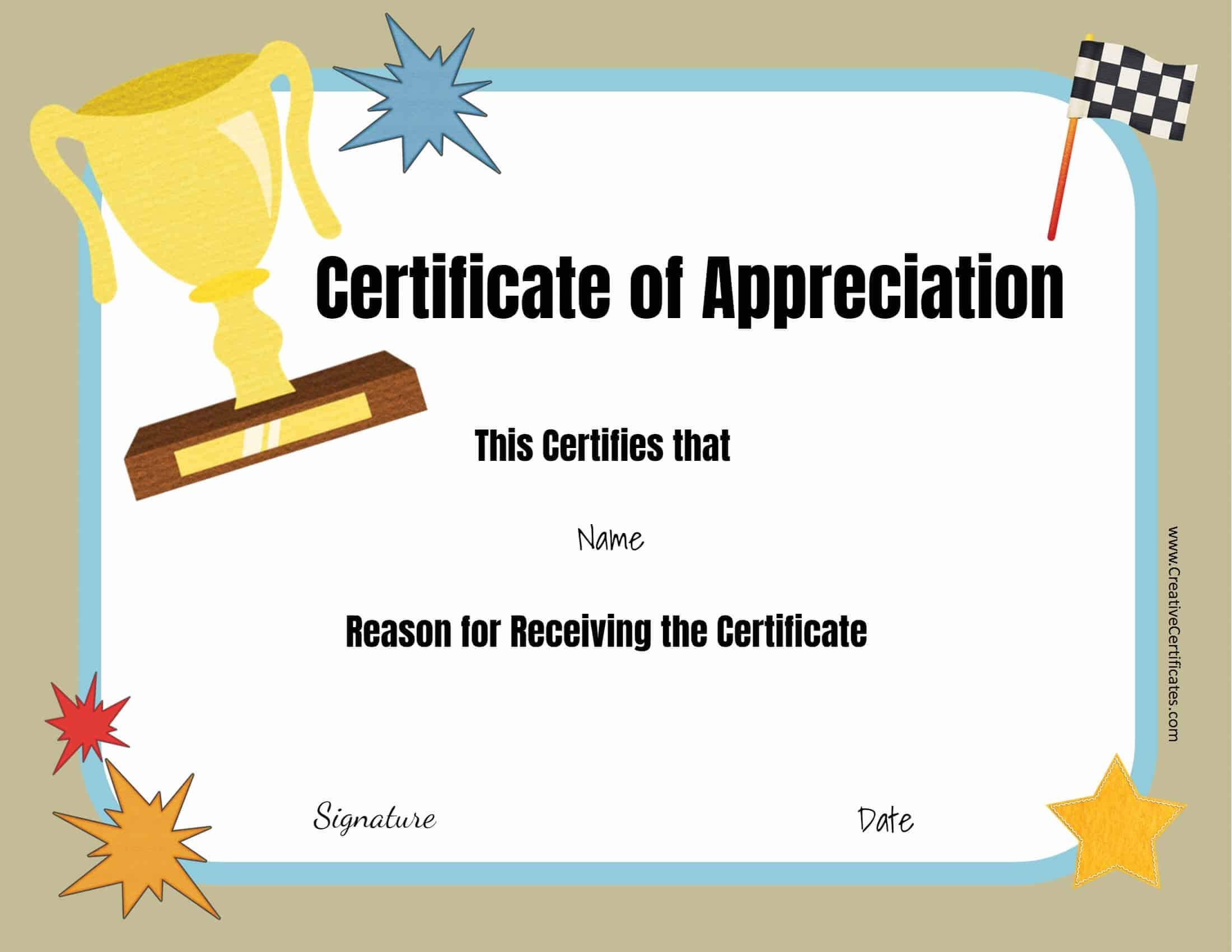 Free Certificate Templates With Regard To Superlative Certificate Template