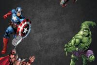 Free Chalkboard Avenger Birthday Invitation Template for Avengers Birthday Card Template