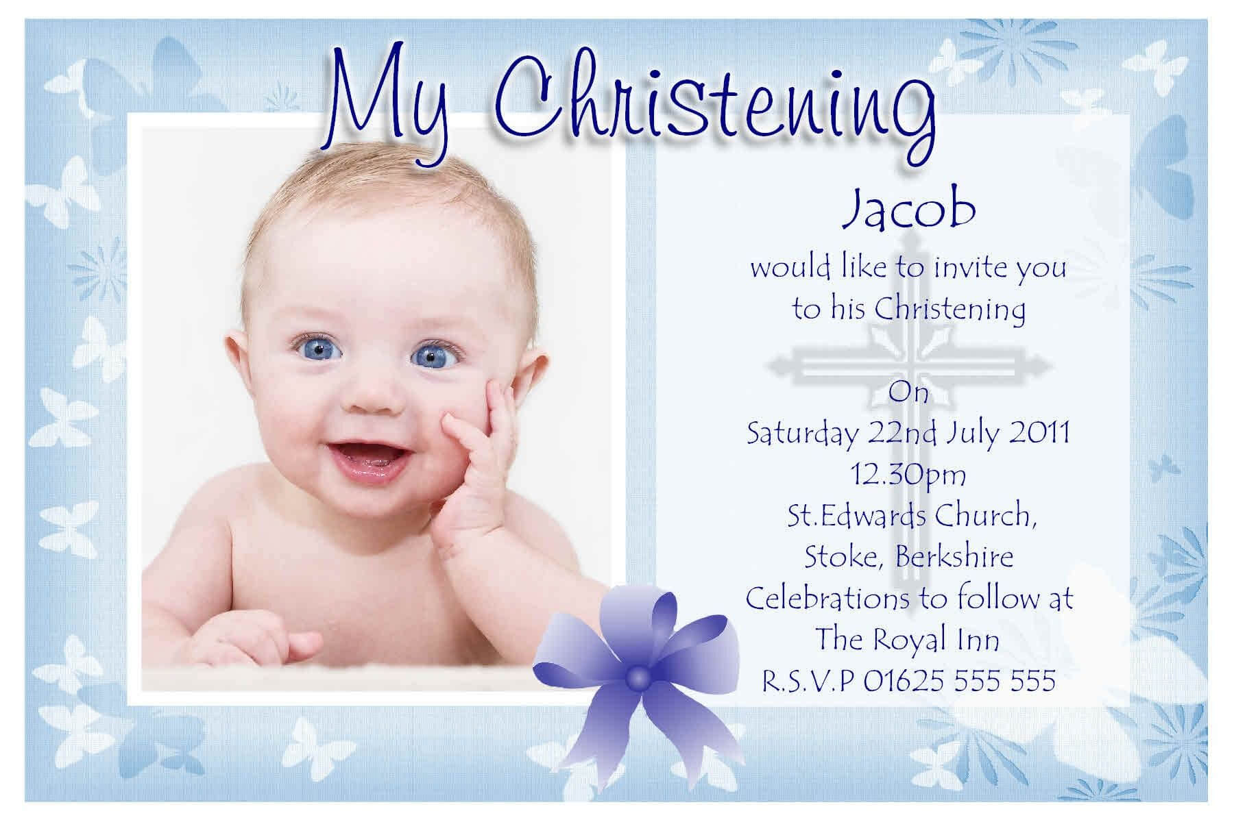 Free Christening Invitation Templates | Baptism Invitation Regarding Baptism Invitation Card Template
