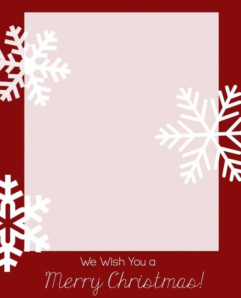 Free Christmas Card Templates | Christmas Card Template With Regard To Printable Holiday Card Templates
