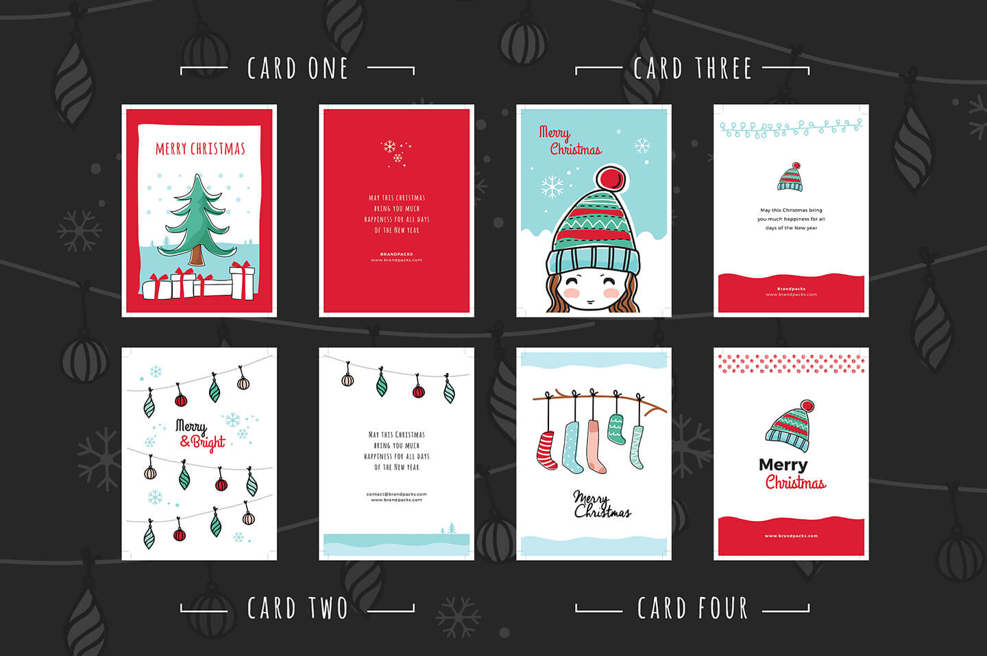Free Christmas Card Templates For Photoshop & Illustrator Throughout Adobe Illustrator Christmas Card Template