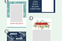 Free Christmas Card Templates – The Crazy Craft Lady pertaining to Diy Christmas Card Templates