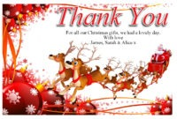 Free-Christmas-Thank-You-Cards-Free – Supportive Guru regarding Christmas Thank You Card Templates Free