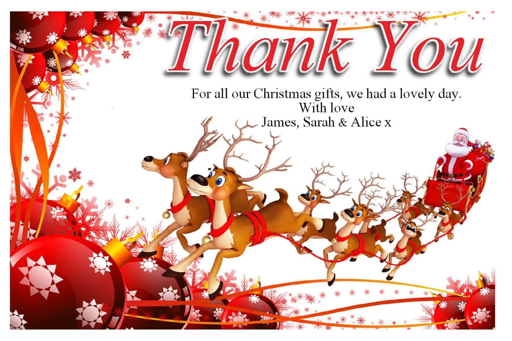 Free Christmas Thank You Cards Free – Supportive Guru Regarding Christmas Thank You Card Templates Free
